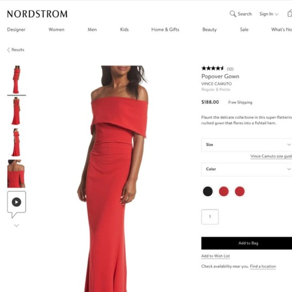 a55822abf9b Off the shoulder GORGEOUS red Vince Camuto gown. M 5b91419434a4ef7430ba647c